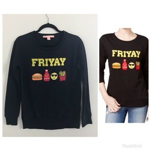 🦀 Friyay black sweater size small Rebellious One